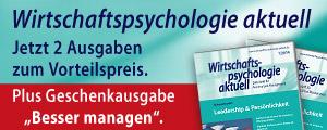 Wirtschaftspsychologie aktuell online