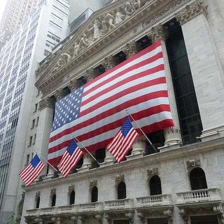 Börse in der Wall Street von außen