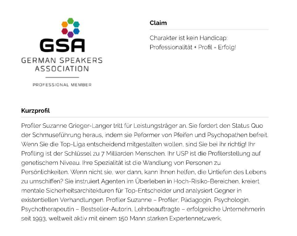 Suzanne Grieger-Langer GSA