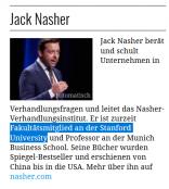 Manager Magazin: Jack Nasher sei Fakultätsmitglied von Standford