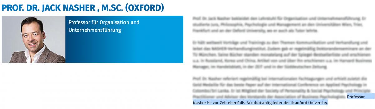 Profil Jack Nascher (Munich Business School)