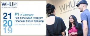 WHU #1 MBA Programm